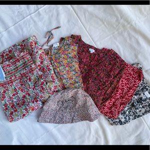 Liberty print girls bundle, various brands, size 10